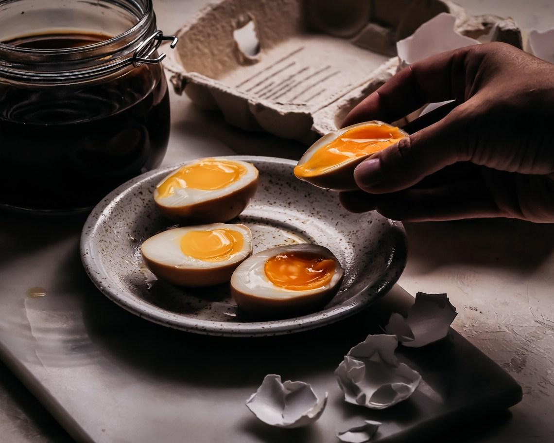 marinoitu kananmuna
