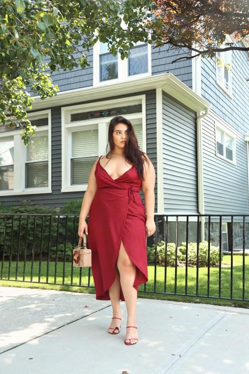 nadia wrap dress