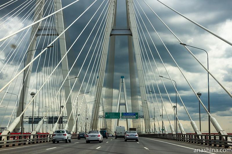 КАД. Большой Обуховский мост