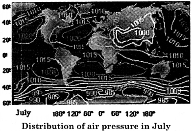 RBSE Solutions for Class 11 Physical Geography Chapter 13 Air Pressure Belts and Winds 6