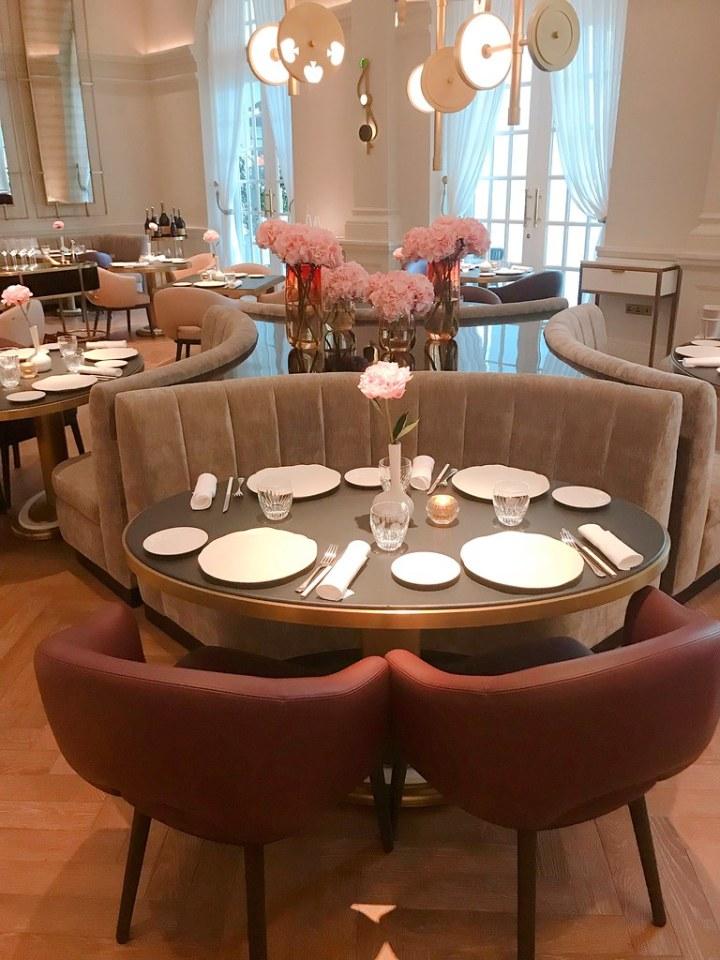 Our table at La Dame de Pic
