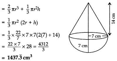 Important Questions for Class 10 Maths Chapter 13 Surface Areas and Volumes 56