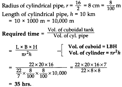 Important Questions for Class 10 Maths Chapter 13 Surface Areas and Volumes 70