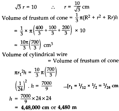 Important Questions for Class 10 Maths Chapter 13 Surface Areas and Volumes 26