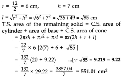 Important Questions for Class 10 Maths Chapter 13 Surface Areas and Volumes 21