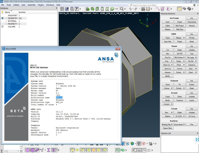 Working with BETA-CAE Systems NASA v19.1.3 full license