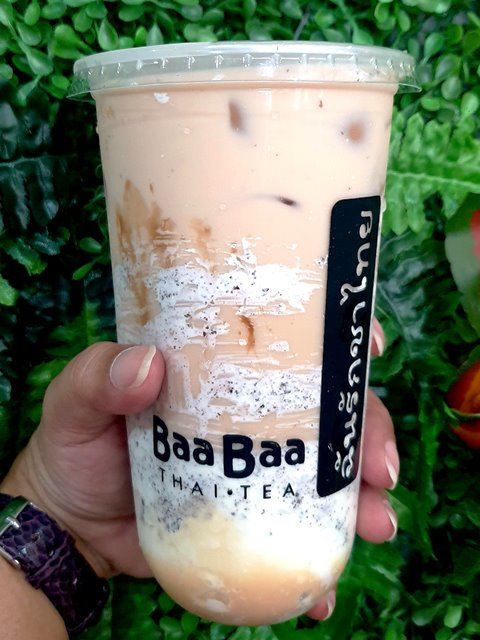 Baa Baa Thai Tea Oreo Cheesecake Milk Tea