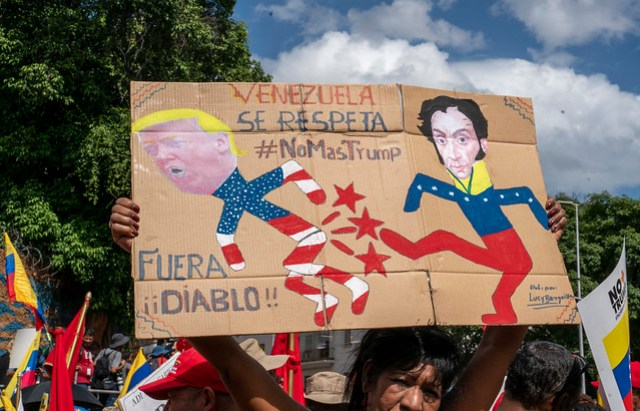 #NoMoreTrump: Venezuelans march against US embargo