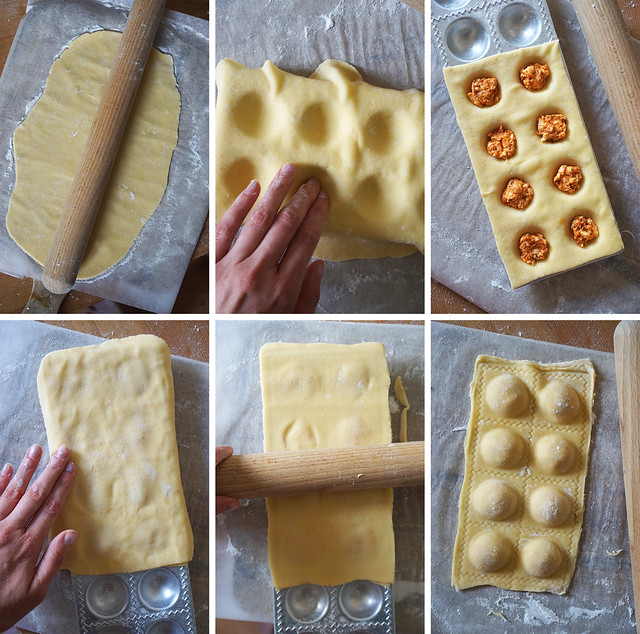 How to make fresh gluten free filled pasta (ravioli) from scratch - step by step guide - stuffed with pesto and mozzarella