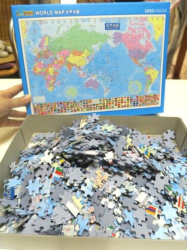 【拼圖】世界地圖1000片