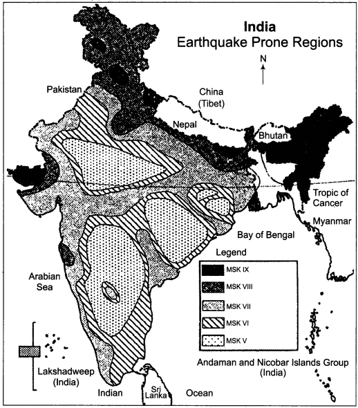 RBSE Solutions for Class 11 Indian Geography Chapter 10 Natural Disasters and Management, Earthquakes & Landslides 4