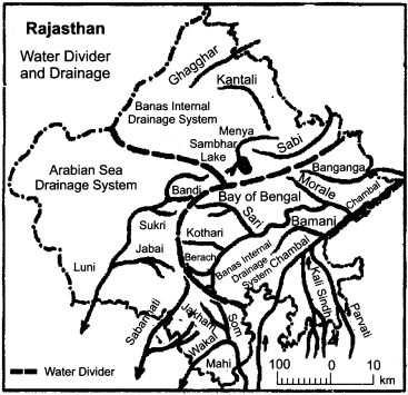 RBSE Solutions for Class 11 Indian Geography Chapter 12 Rajasthan Introduction, Physical Features and Drainage System 5