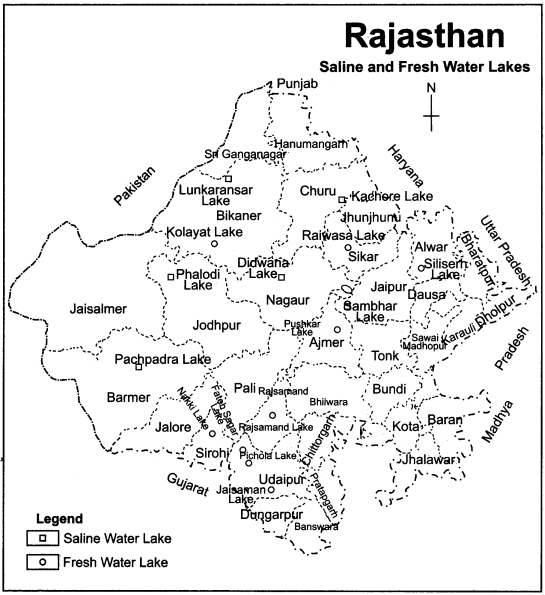 RBSE Solutions for Class 11 Indian Geography Chapter 12 Rajasthan Introduction, Physical Features and Drainage System 7