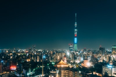 sky tree / city scape / asakusa / night