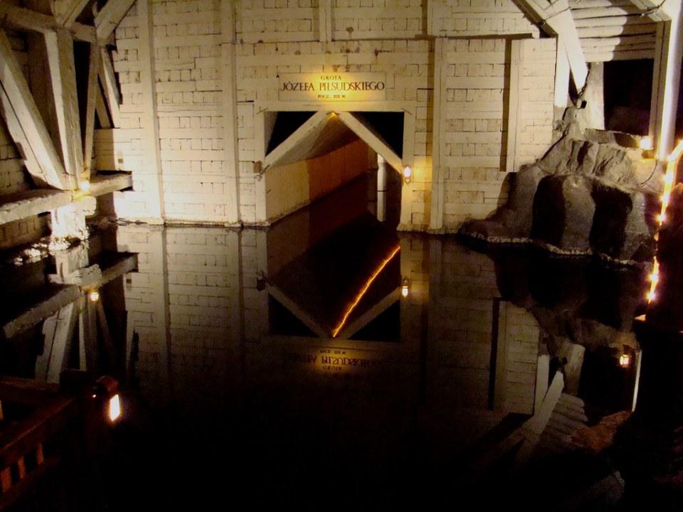 Camara de Josef Pilsudski Lago subterraneo Minas de sal en Wieliczka Polonia 41 UNESCO