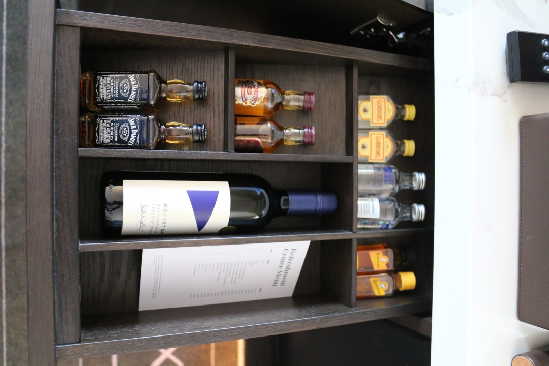 Minibar at the Sheraton Grand Sydney