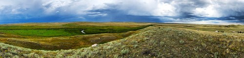Grasslands National Park West Block - Pano with drama