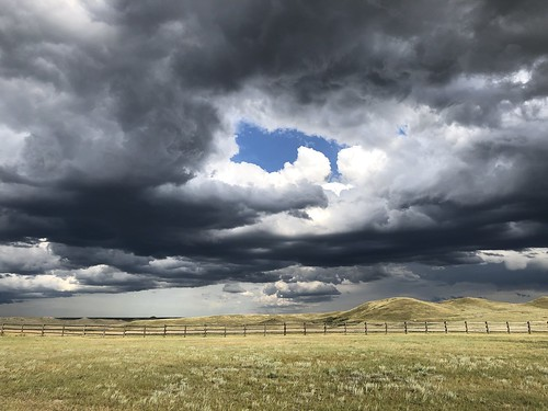 Grasslands National Park West Block - dramatic sky