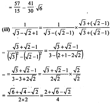 ML Aggarwal Class 9 Solutions for ICSE Maths Chapter 1 Rational and Irrational Numbers Chapter Test 11