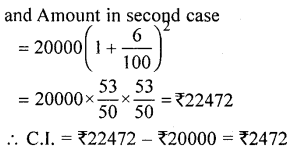 ML Aggarwal Class 9 Solutions for ICSE Maths Chapter 2 Compound Interest Chapter Test 8