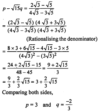 ML Aggarwal Class 9 Solutions for ICSE Maths Chapter 1 Rational and Irrational Numbers Chapter Test 12