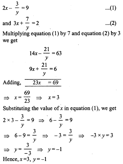 ML Aggarwal Class 9 Solutions for ICSE Maths Chapter 5 Simultaneous Linear Equations Chapter Test 16