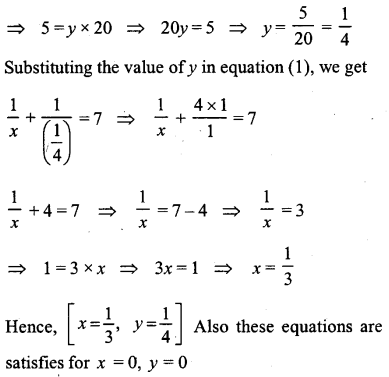 ML Aggarwal Class 9 Solutions for ICSE Maths Chapter 5 Simultaneous Linear Equations Chapter Test 7