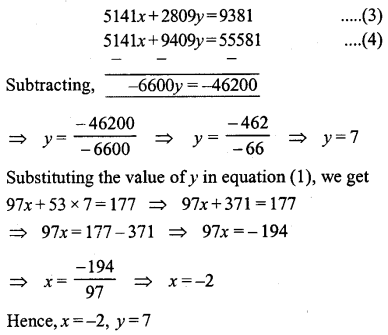 ML Aggarwal Class 9 Solutions for ICSE Maths Chapter 5 Simultaneous Linear Equations Chapter Test 4