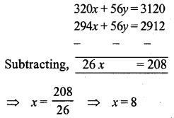 ML Aggarwal Class 9 Solutions for ICSE Maths Chapter 6 Problems on Simultaneous Linear Equations Chapter Test 3