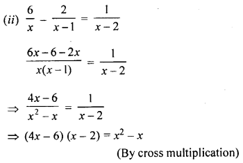 ML Aggarwal Class 9 Solutions for ICSE Maths Chapter 7 Quadratic Equations Chapter Test 3