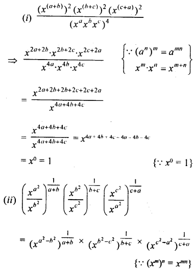 ML Aggarwal Class 9 Solutions for ICSE Maths Chapter 8 Indices Chapter Test 7