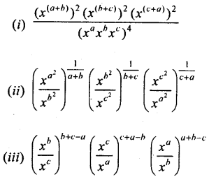 ML Aggarwal Class 9 Solutions for ICSE Maths Chapter 8 Indices Chapter Test 6