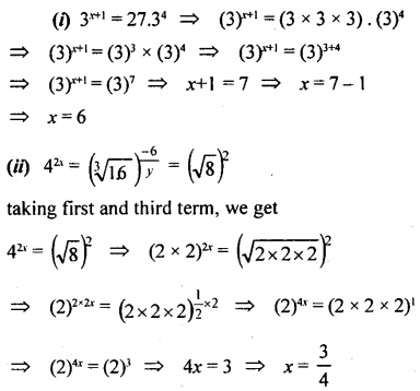ML Aggarwal Class 9 Solutions for ICSE Maths Chapter 8 Indices Chapter Test 16