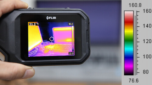 thermal image with scale