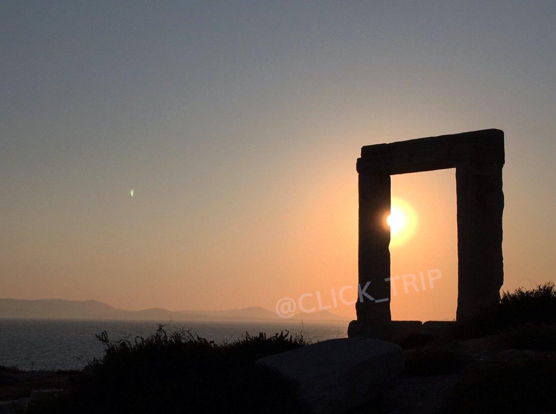 Atardecer en la Portara | Islas de Naxos | Islas Griegas | ClickTrip.ES
