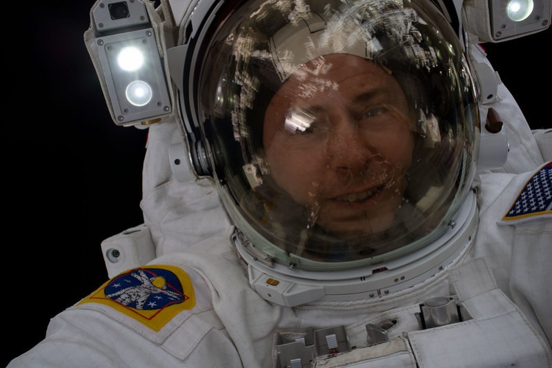 "Astronaut Nick Hague takes an out-of-this-world ""space-selfie"""