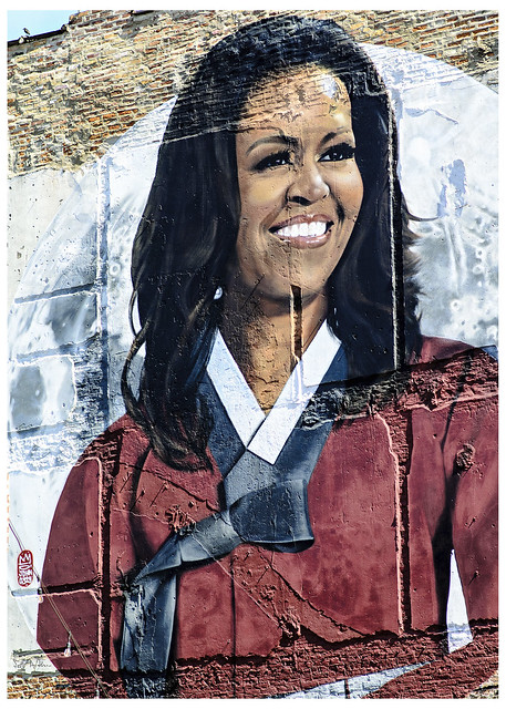 Michelle Obama on Milwaukee Avenue