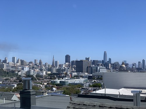 The view from my hotel window. San Francisco.