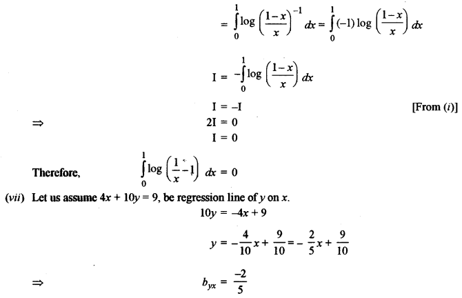 ISC Class 12 Maths Previous Year Question Papers Solved 2013 Q1.5