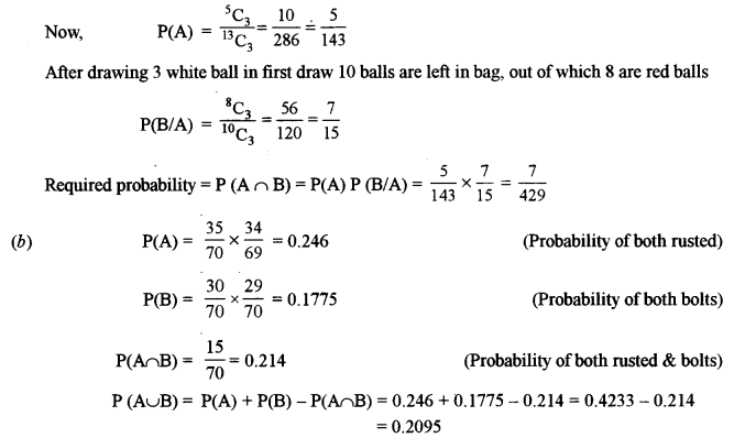 ISC Class 12 Maths Previous Year Question Papers Solved 2012 Q8