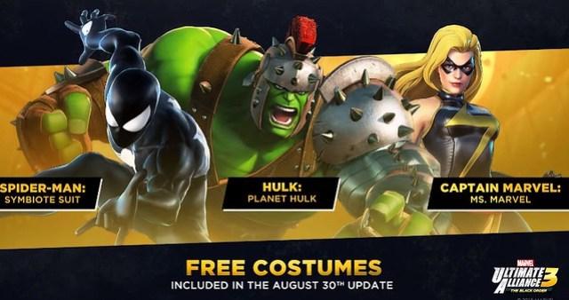 Marvel Ultimate Alliance 3 - Ücretsiz Kostümler