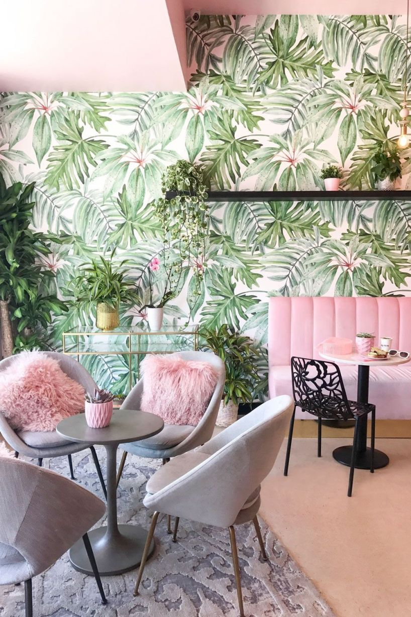Tropical style in decoration.