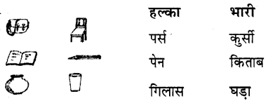 UP Board Solutions for Class 2 Maths गिनतारा Chapter 14 हल्की-भारी वस्तुएँ
