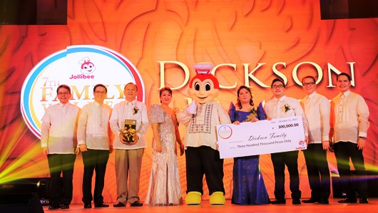Jollibee Family Values Awards Winners Dickson Family