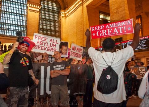 No Raids – Close The Camps – Abolish ICE! Grand Central NYC