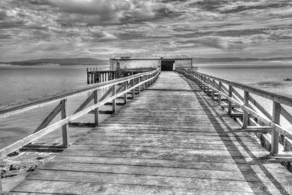 Abandoned Fish Processing Pier, Western End of Drakes Beach HDR 1