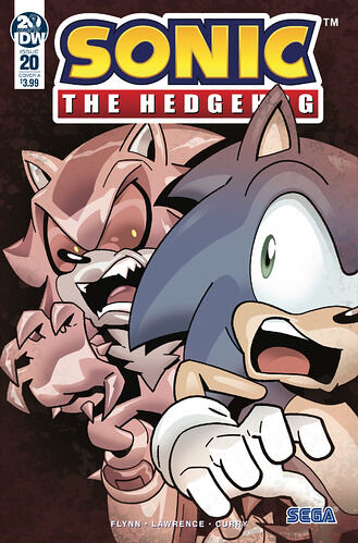 IDW Sonic The hedgehog Issue 20 Cover A