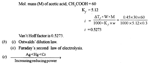 ISC Chemistry Question Paper 2013 Solved for Class 12 Q2.2