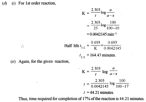 ISC Chemistry Question Paper 2013 Solved for Class 12 Q2.3