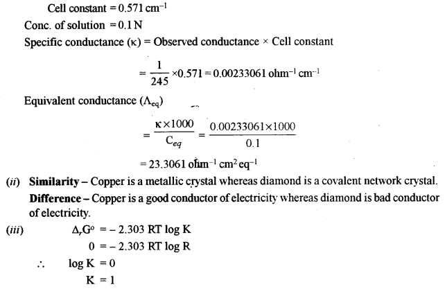 ISC Chemistry Question Paper 2010 Solved for Class 12 Q4.1